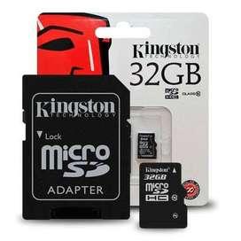 MEMORIA / TARJETA 32 GB microSD C/Adaptador clase 10 KINGSTON CANVAS