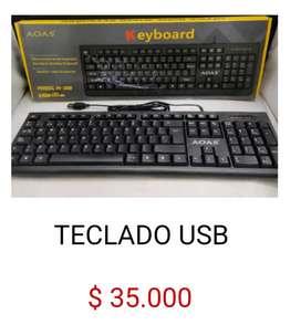 Teclado keyboard usb para de  pc computador aoas