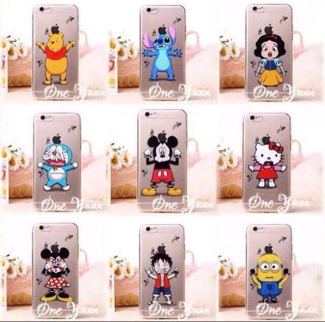 Funda Cartoon Silicona iPhone 6,6Plus 0