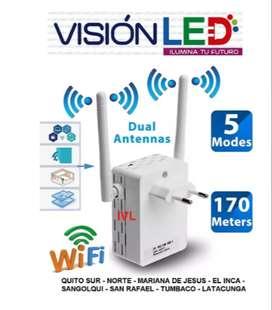 Repetidor Wifi Router 2 Antenas Potente Alcance  300 Mbps