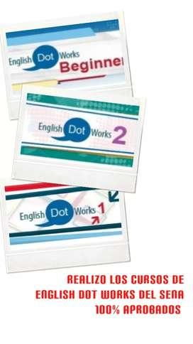 Realizo cursos de ingles del Sena english dot works