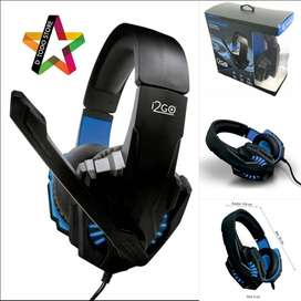 Headphone Gamers Blue I2go
