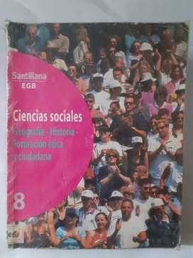Ciencias Sociales 8 Geografia - Historia - Formacion Etica - Ciudadana Santillana E.G.B.