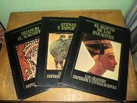 """3 Libros de """"Los Grandes Imperios y Civilizaciones"""""""
