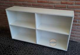 Biblioteca, horizontal 1,20x60x30 cm en 18 mm blanco