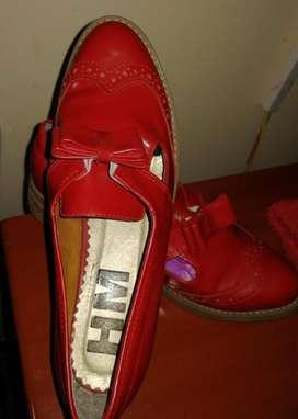 Zapato casual rojo talla 35-36