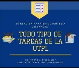 Se realiza tareas y cuestionarios estudiantes UTPL