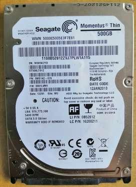 Disco duro interno Seagate 500 GB portátil Sata 2.5