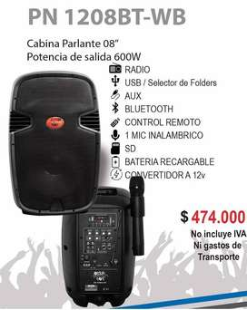 CABINA RECARGABLE DE 8 PULGADAS
