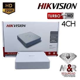 DVR 4 CANALES HIKVISION 1080P hasta 2MP