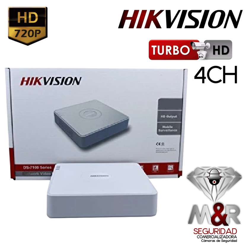 DVR 4 CANALES HIKVISION 1080P hasta 2MP 0