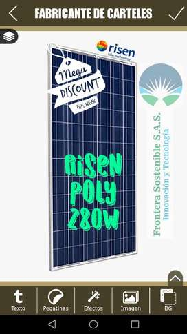 Panel Solar Risen 280w Poly