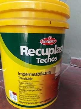Membrana líquida / impermeabilizante / pintura para techos.