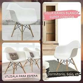 Silla Eames Comoda Blanca De Sala Espera Spa Escritorio