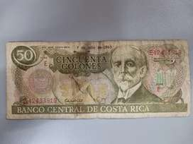 Billete de Costa Rica