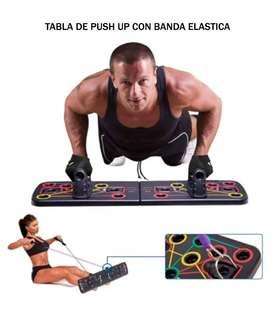 Tabla Para Push Up Con Banda Elastica Fitness