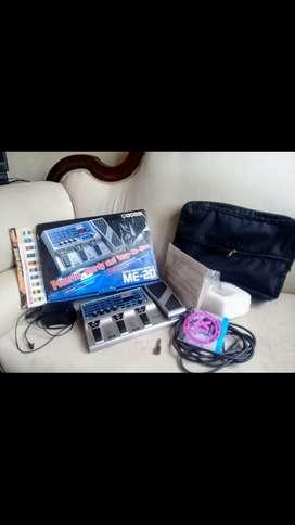 Se vende pedalera multiefectos BOSS-ME 20 para guitarra.