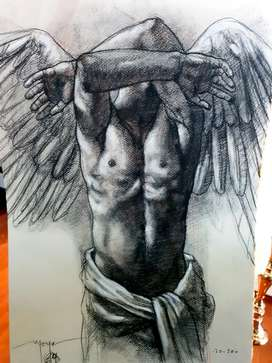 ANGEL, E.Moya, dibujo