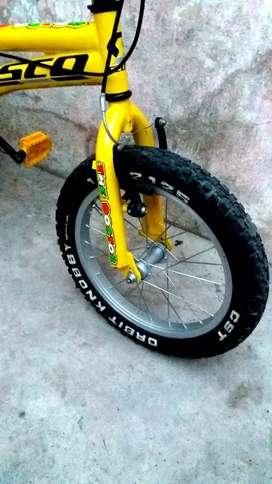 Vendo Hermosa Bicicleta GW # 16 casi nueva cero detalles