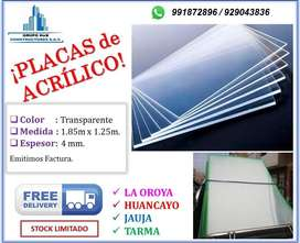 PLACAS DE ACRÍLICO 4 MM