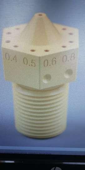 Trabajos en 3 - D, fabricación de piezas