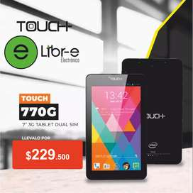 TABLET TOUCH 770G 7'', QUAD CORE, 8GB, 1GB RAM, 3G, DUAL SIM
