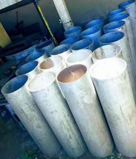 caño de acero inoxidable de 40 y 50 cm. de diametro y 5 mm. de espesor promedio..TUBOS LARRALDE en avellaneda