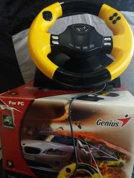 Volante con Pedalera Genius para Pc