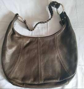 Cartera/bolso de cuero para mujer tipo hobo