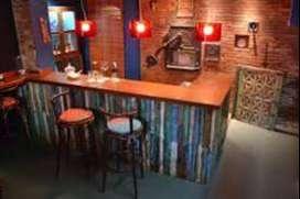 Barras y muebles para bar