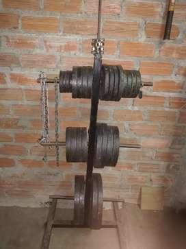 Venta de pesas y Maquinas