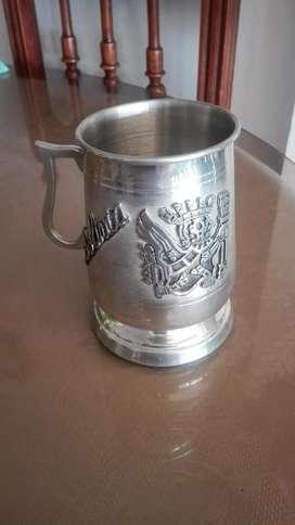 vaso cervecero en peltre Bolivia de colección
