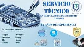 servicio técnico para pc o laptop