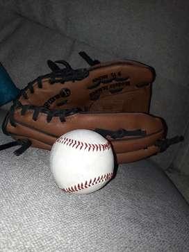 Guante y pelota de béisbol Tamanaco