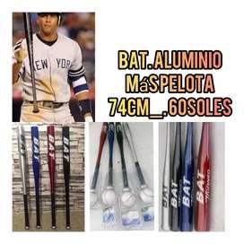 Bat bat baseball béisbol aluminio mas pelota