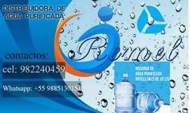 Venta de agua purificada de 20 litros