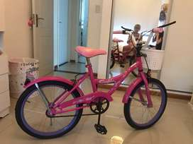Vendo bici sin uso nena rodado 20