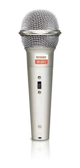 Microfono Profesional Dinamico Alambrico Adaptador 2.5mm