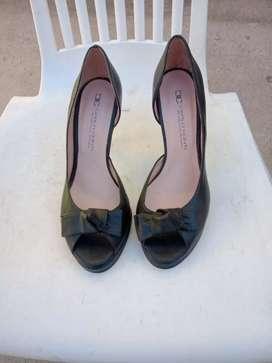 Sandalias de fiesta cuero Negro N 35