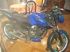 Moto pulsar Speed azul  como nueva motivo cambie de moto más grade