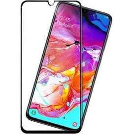 Protector Pantalla Vidrio Templado 10D Samsung Galaxy A70 - Negro