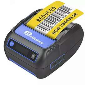 Impresora bluetooth recargable 58mm para etiquetas o papel térmico