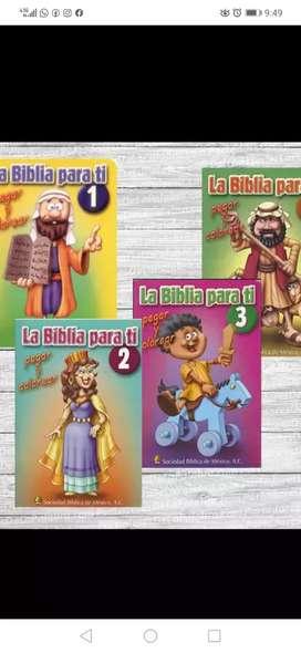 """Cartillas  la Biblia para ti """" pegar y colorear"""""""