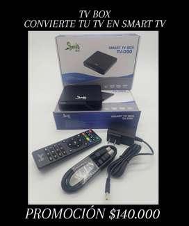 TV BOX CONVIERTE TV EN SMART TV