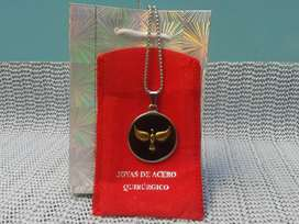 cadena y medalla de acero quirurgico nueva
