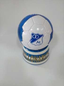 Balon de Coleccion con Base en Madera