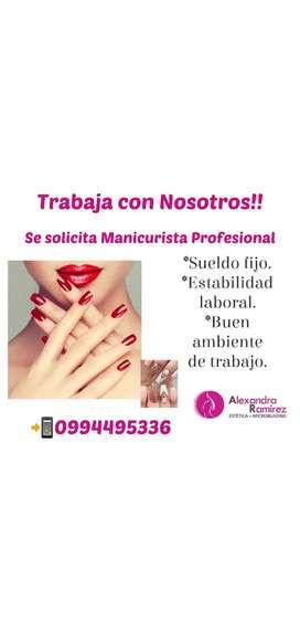 Solicitamos personal en el área de manicure