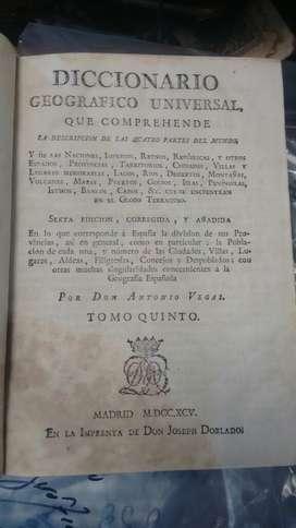 Diccionario Geografico Universal 1795