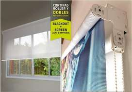 CORTINAS ROLLER BLACKOUT Y SCREEN