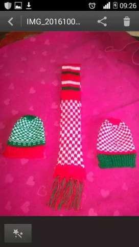 Vendo bufandas-gorros para muñequeria adultos y niños